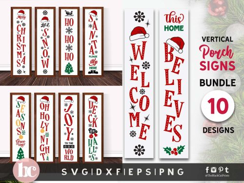 Vertical Signs Christmas Bundle SVG